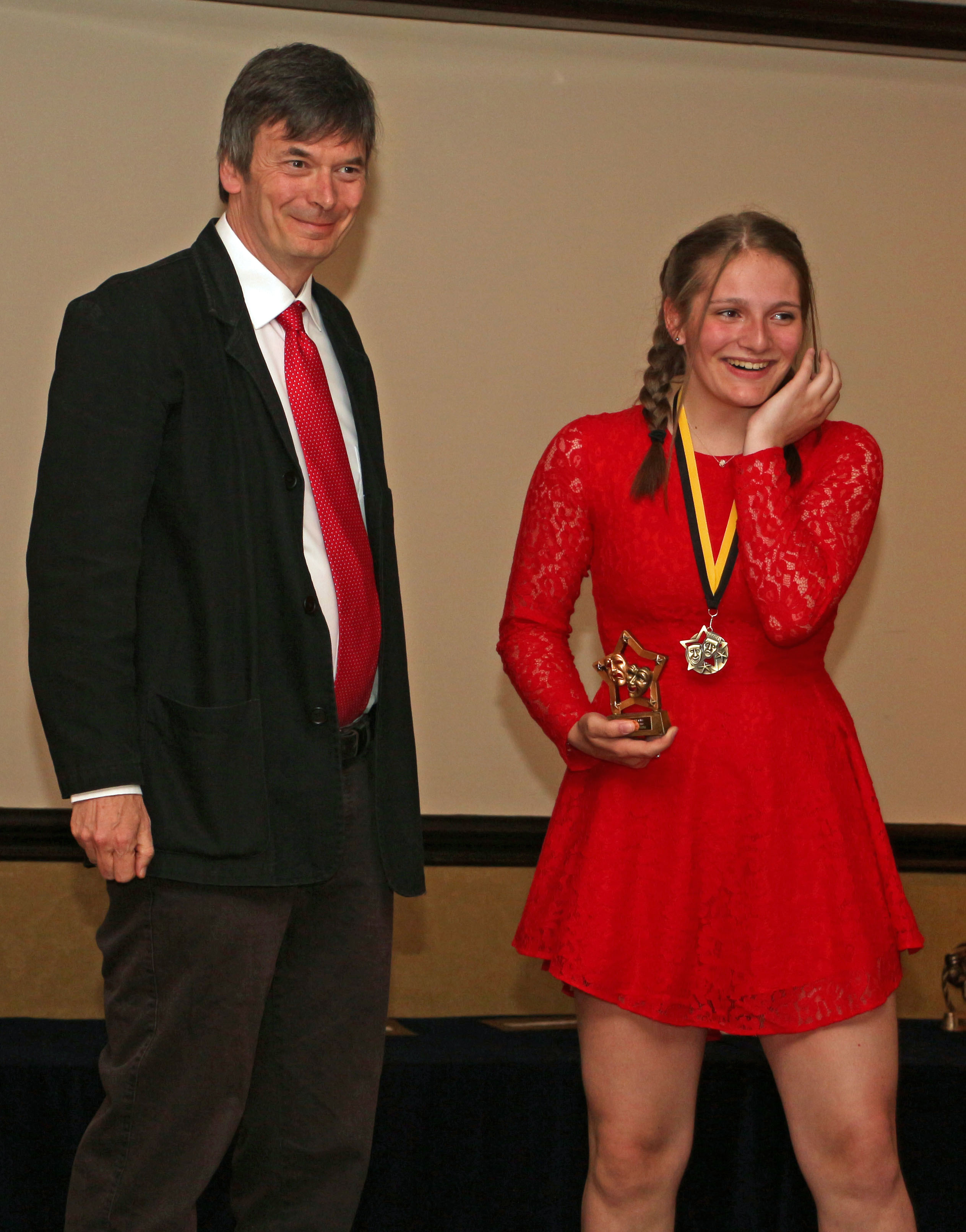 Ian Rankin With Best Junior Female Winner