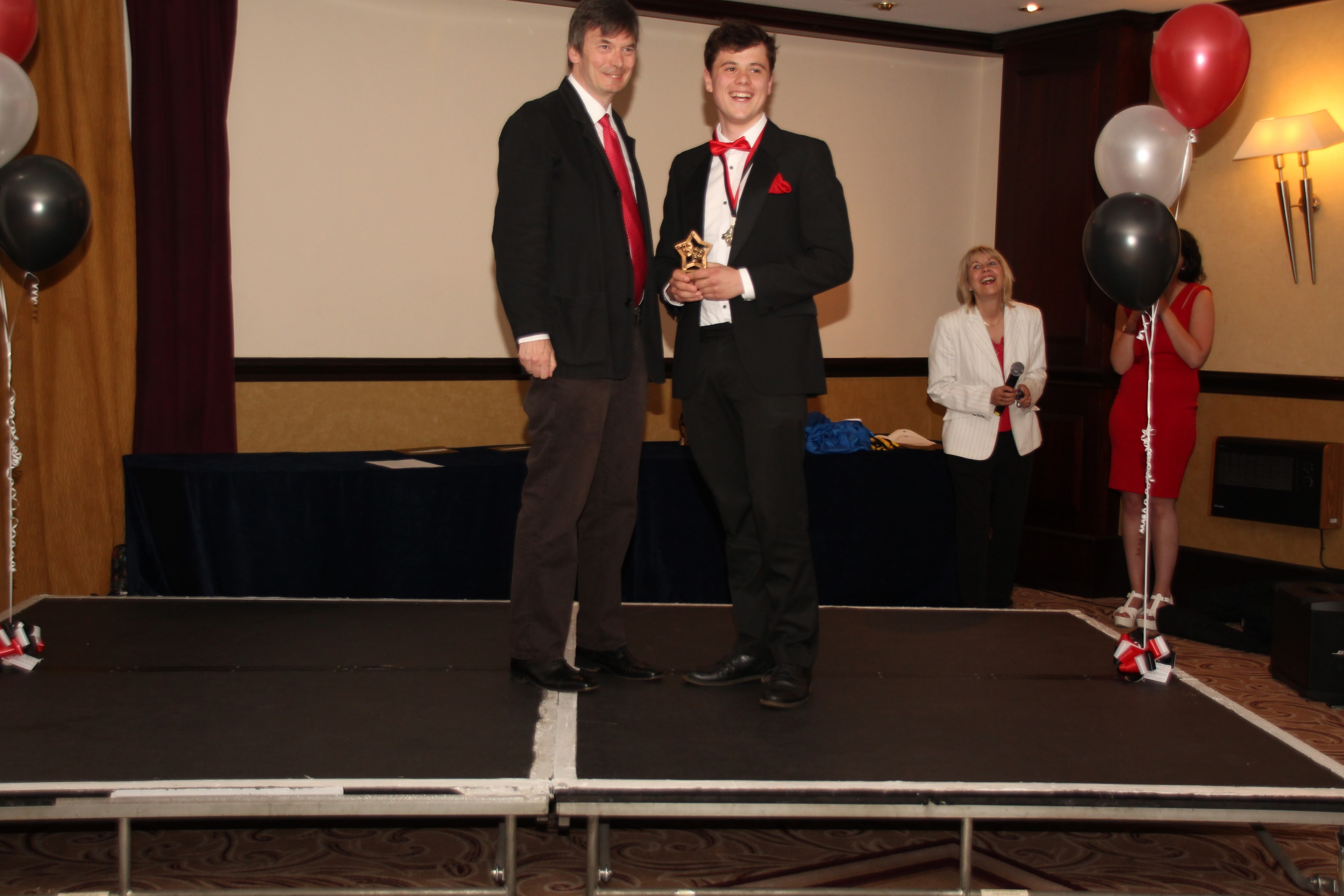 Ian Rankin With Best Senior Male Winner