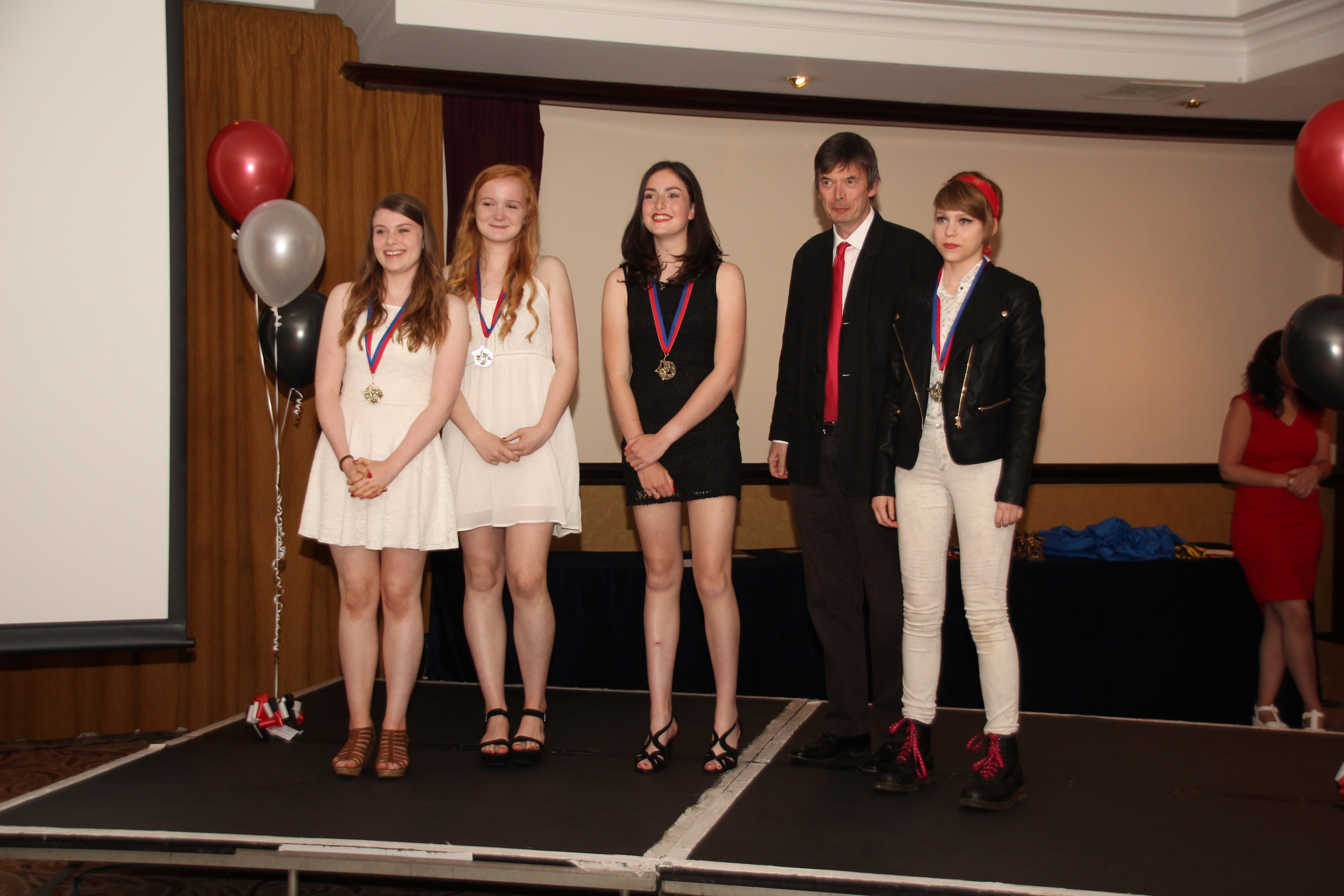 Ian Rankin With Best Senior Film Winners