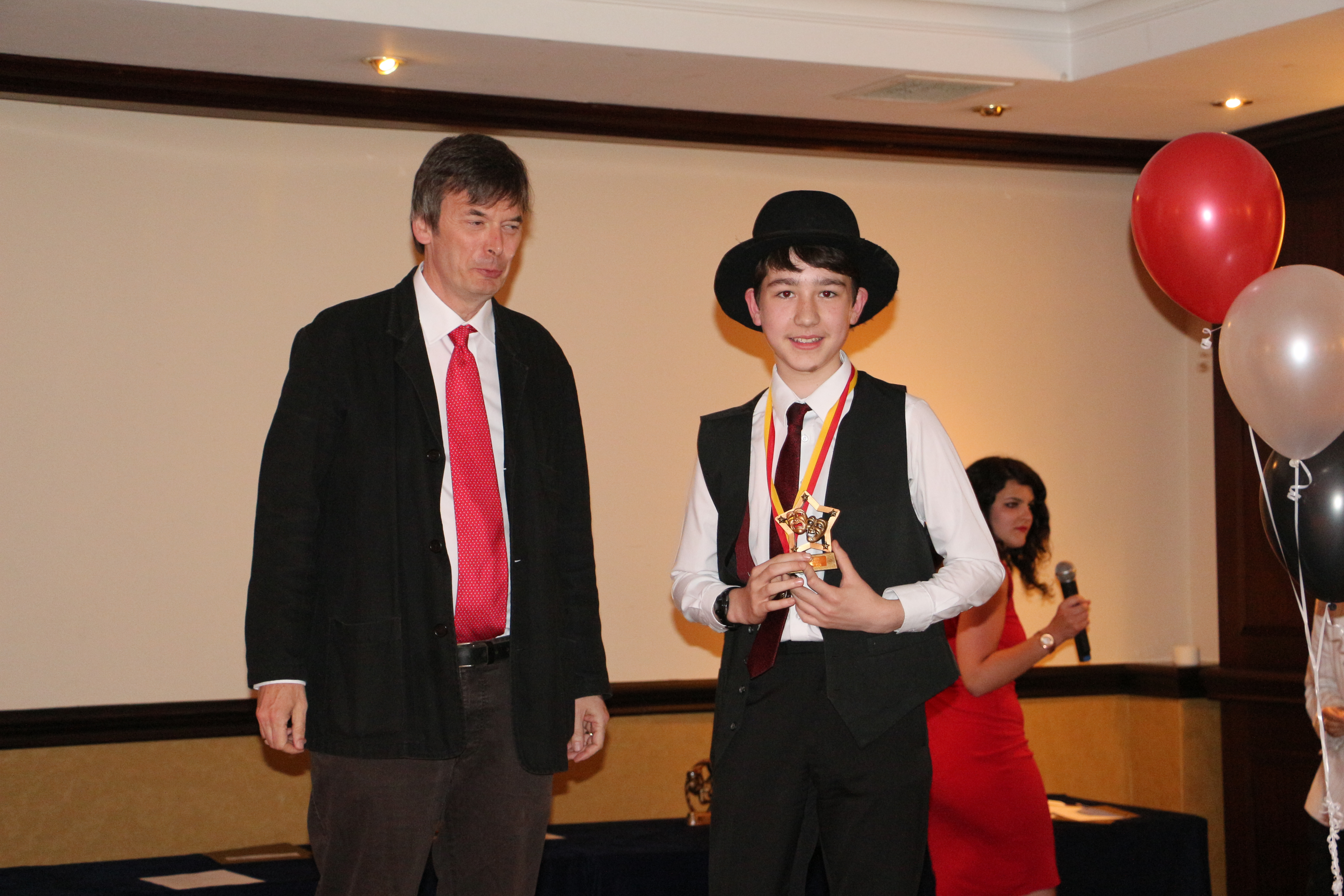 Ian Rankin With Best Junior Male Winner