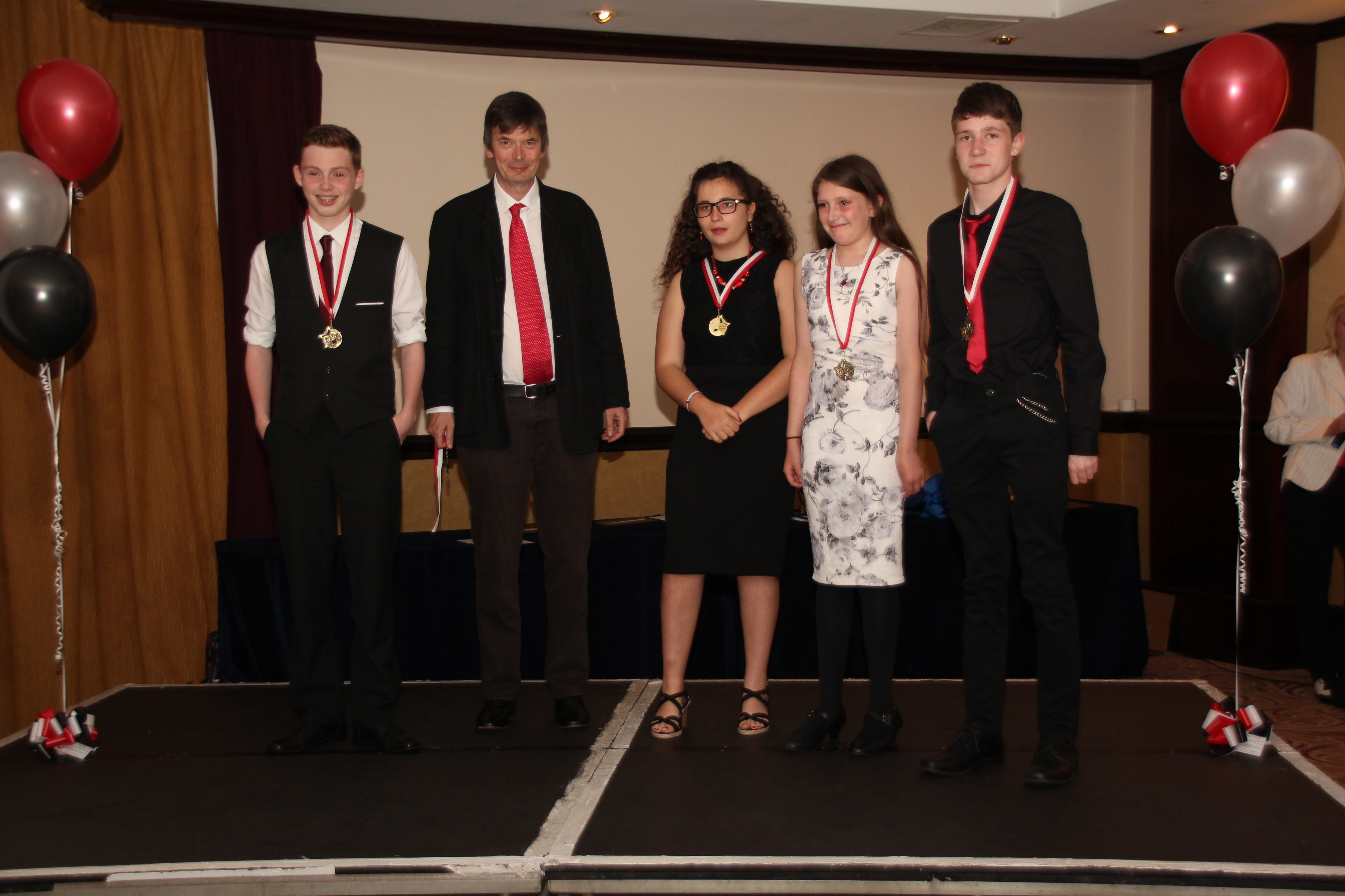 Ian Rankin With Best Junior Film Twist Winners