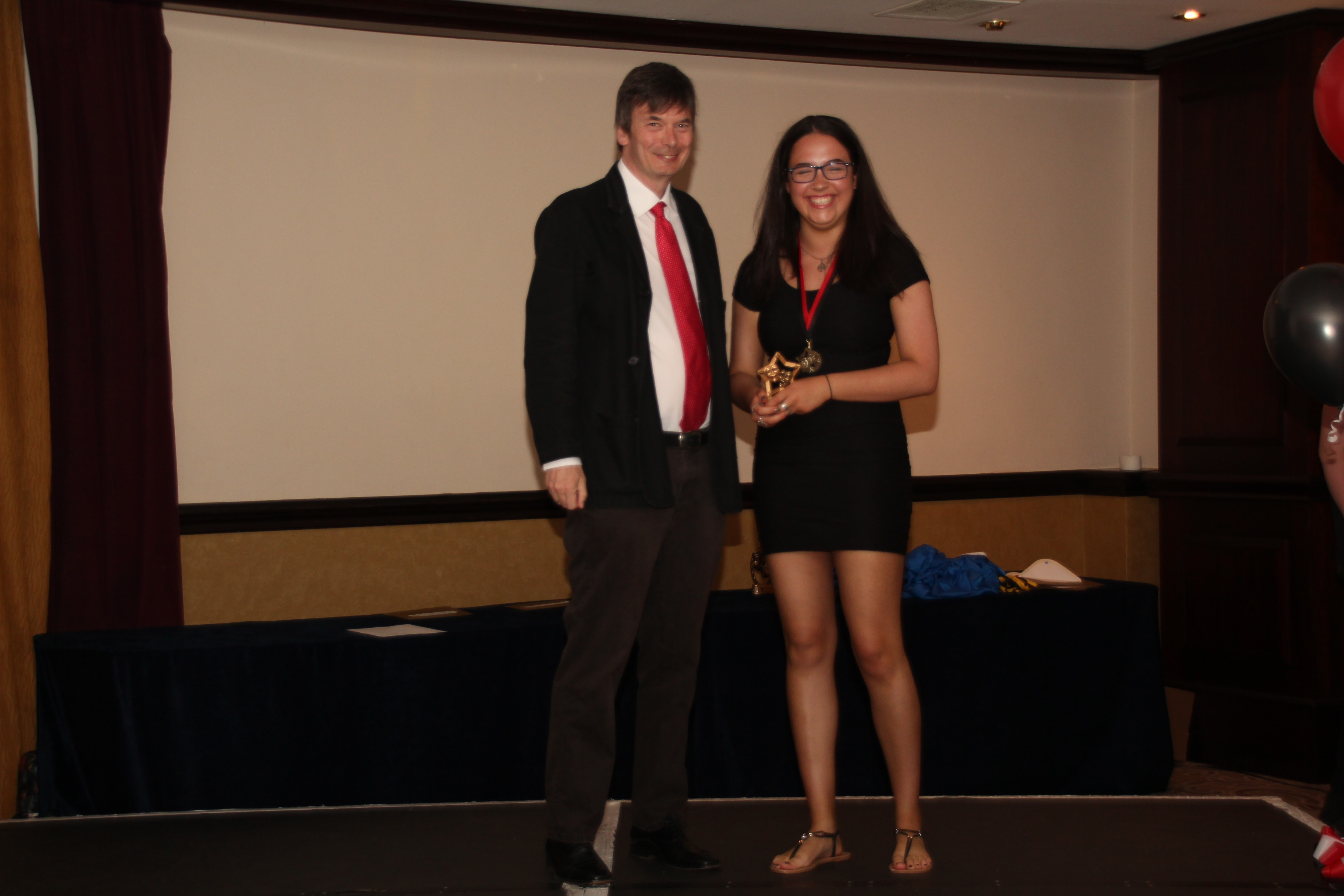 Ian Rankin With Best Senior Female Winner
